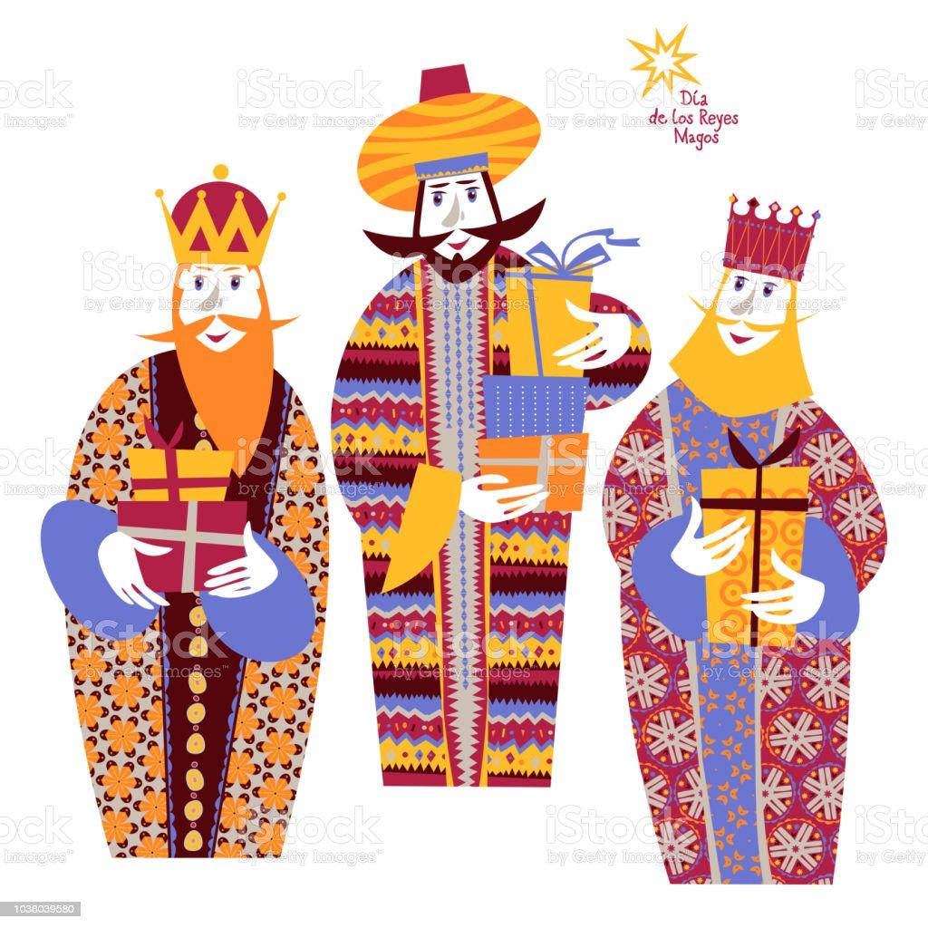 Dias De Reyes Magos Descargar ilustración de tres reyes bíblicos caspar melchior y