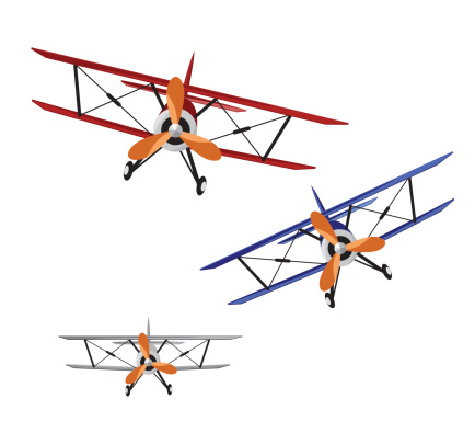 three biplanes