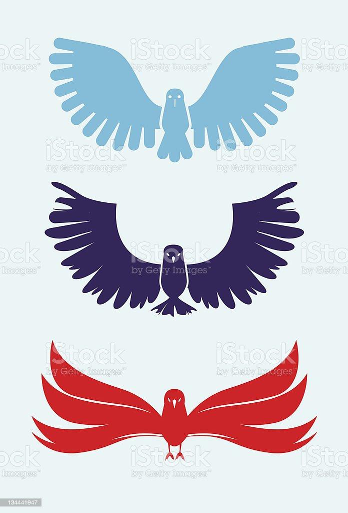 Three Birds royalty-free three birds stock vector art & more images of bird