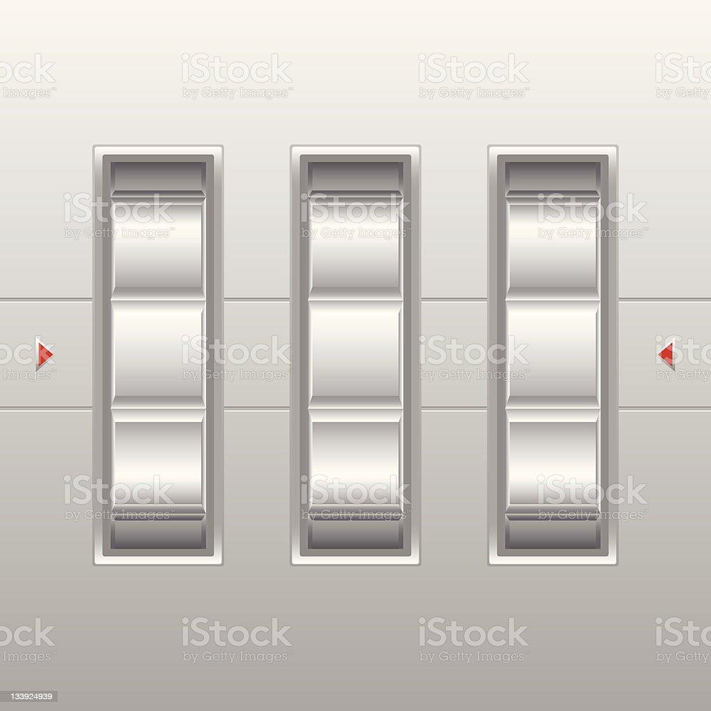 Three blank combination locks  vector art illustration