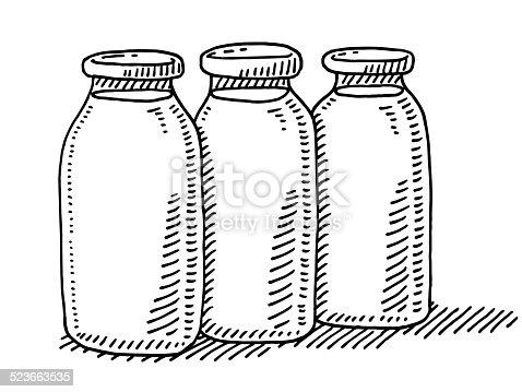 ᐈ Imagen De Tres Botellas De Leche Dibujo