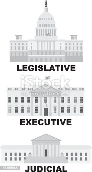 istock Three Branches of US Government Illustration 511658882
