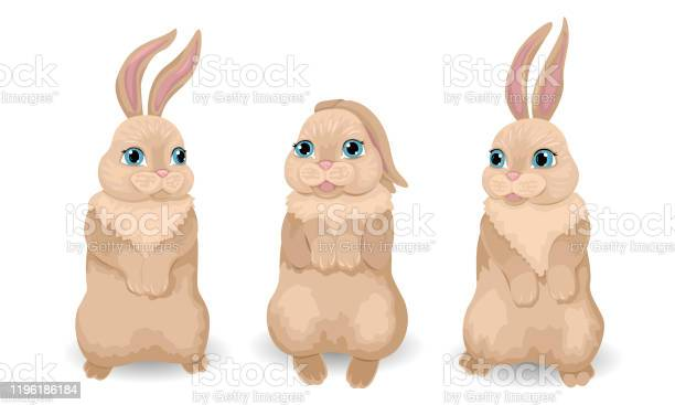 Three brownlight bunnies are tucked up paws smiling and talking vector id1196186184?b=1&k=6&m=1196186184&s=612x612&h=2p5sifs2lrersdcp tione25ejejz6ufop38ohkfxjq=