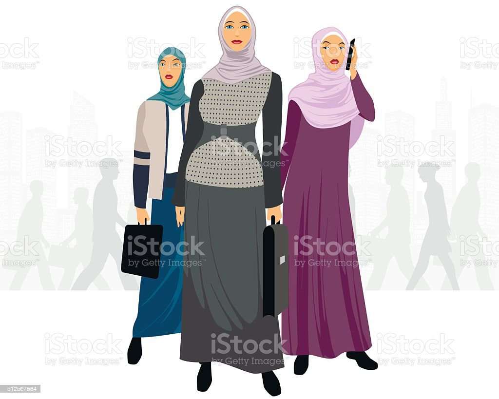 Three businesswomen in city