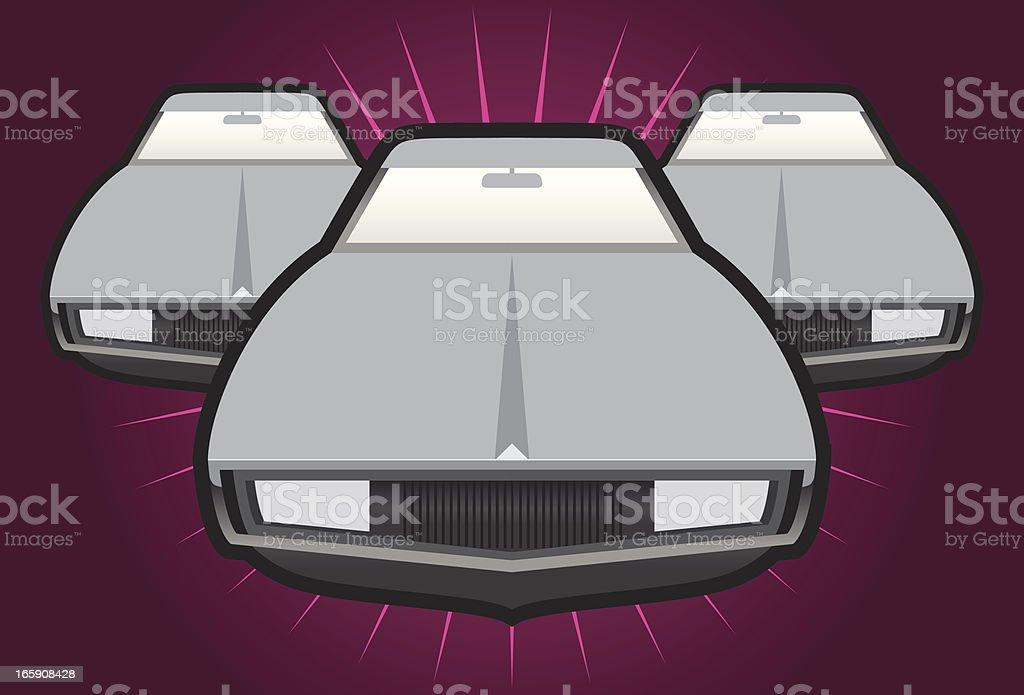 Three cars vector art illustration