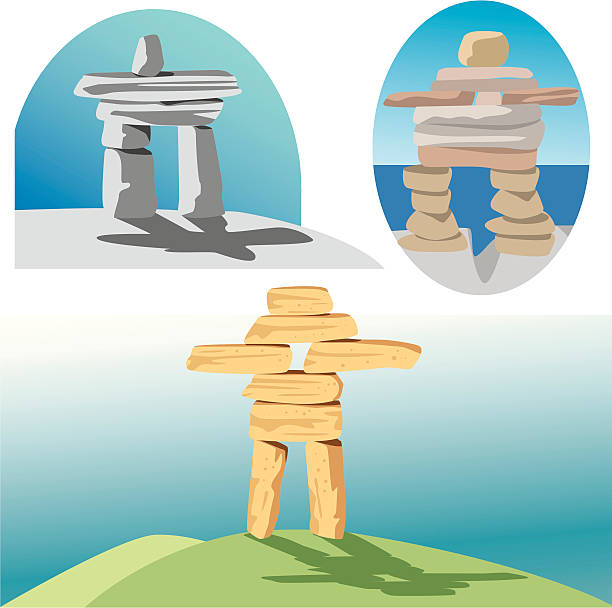 Royalty Free Inukshuk Canada Clip Art Vector Images Illustrations