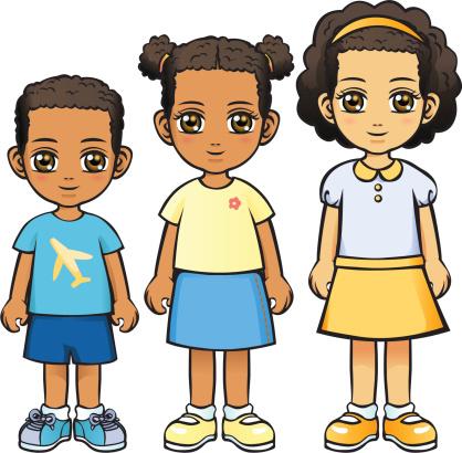Three Children (African Descent)