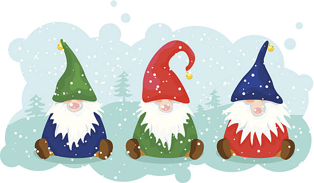 Christmas Gnomes Clipart.Best Christmas Gnome Illustrations Royalty Free Vector