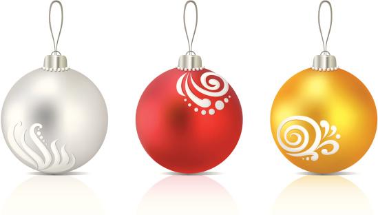 Three christmas glass balls