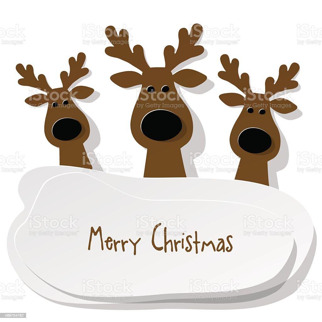Ilustración de Tres Reno De Navidad De Color Marrón Sobre Un Fondo ...