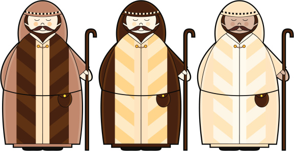 Three Christmas Shepherd Characters