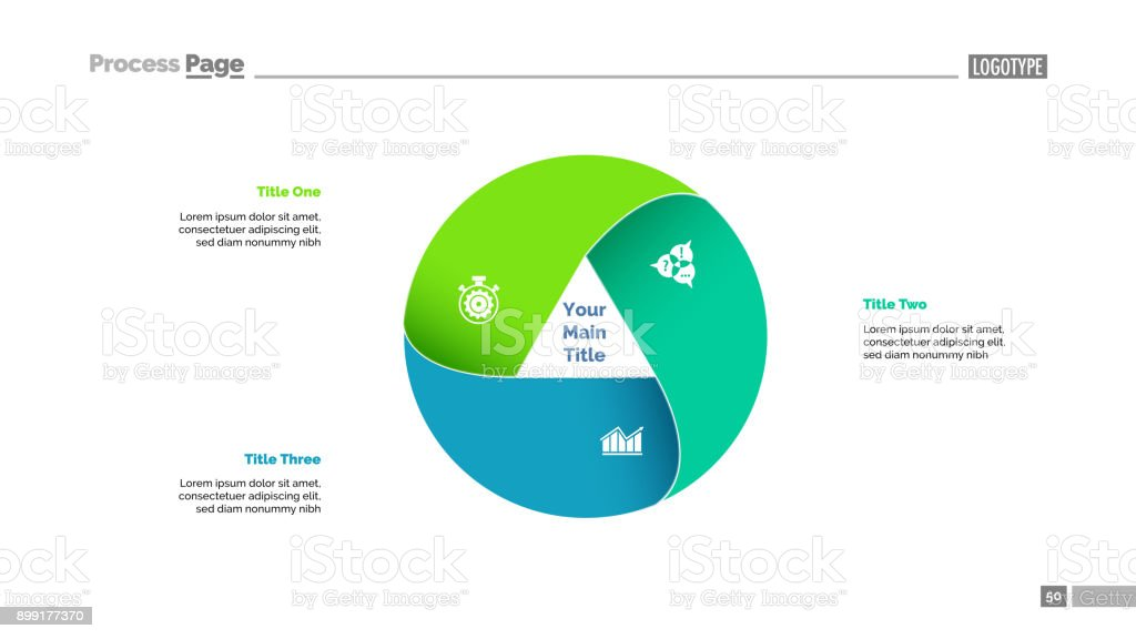 Three Circle Elements Slide Template royalty-free three circle elements slide template stock illustration - download image now