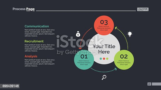 Process chart slide template. Business data. Graph, diagram. Creative concept for infographic, templates, presentation. Can be used for topics like strategy, teamwork.