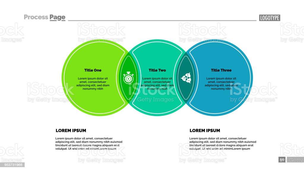 Three Circles Process Chart Template Stock Vector Art More Images - Process chart template