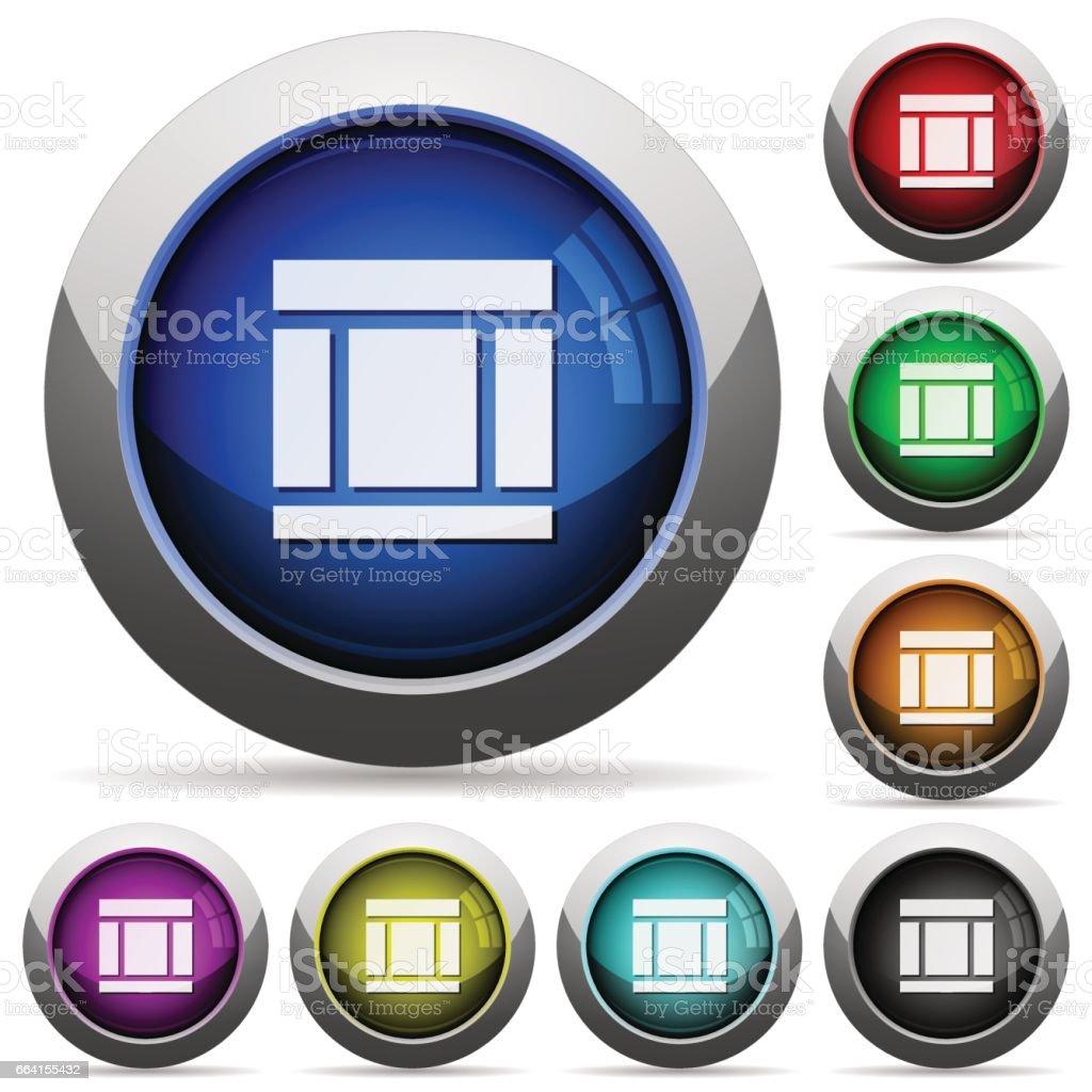 Three columns web layout button set three columns web layout button set - immagini vettoriali stock e altre immagini di acciaio royalty-free