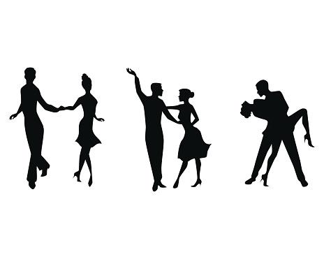 Three couples dancing