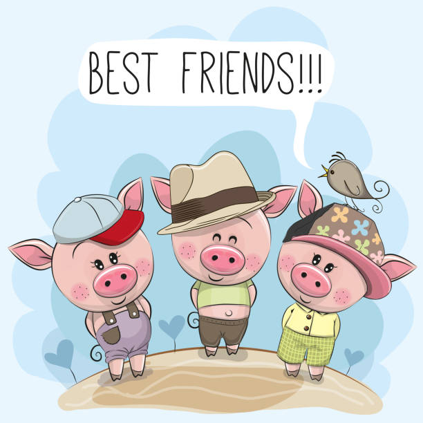Best Drawing Of Three Best Friends Illustrations Royalty Free