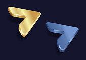 three dimensional arrows