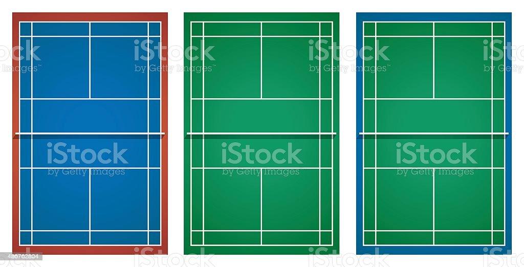3 つのデザインのテニスコート 2015年のベクターアート素材や画像を