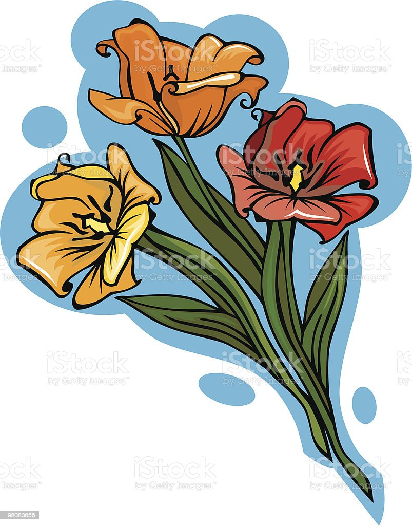 Three different colored vector tulips royalty-free three different colored vector tulips stock vector art & more images of beauty