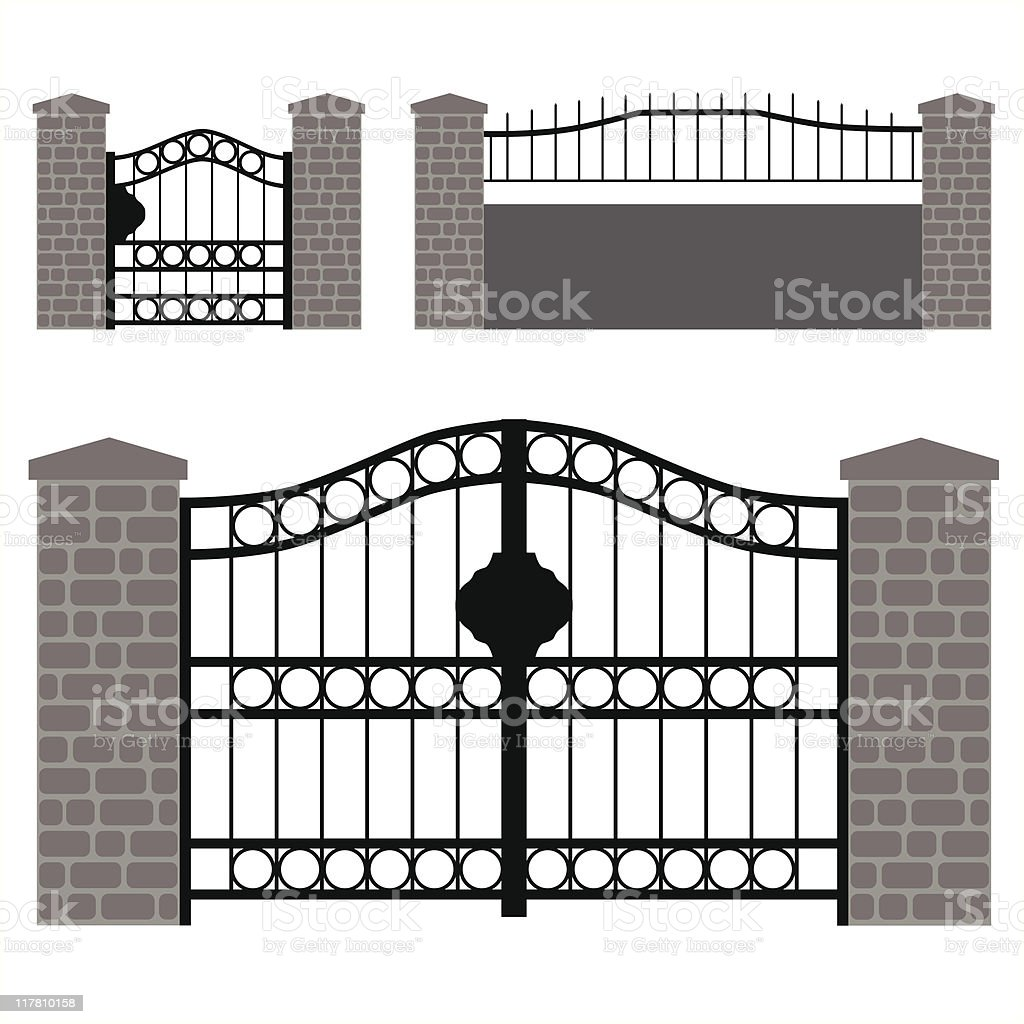 Garten Türen Vektor Vektor Illustration