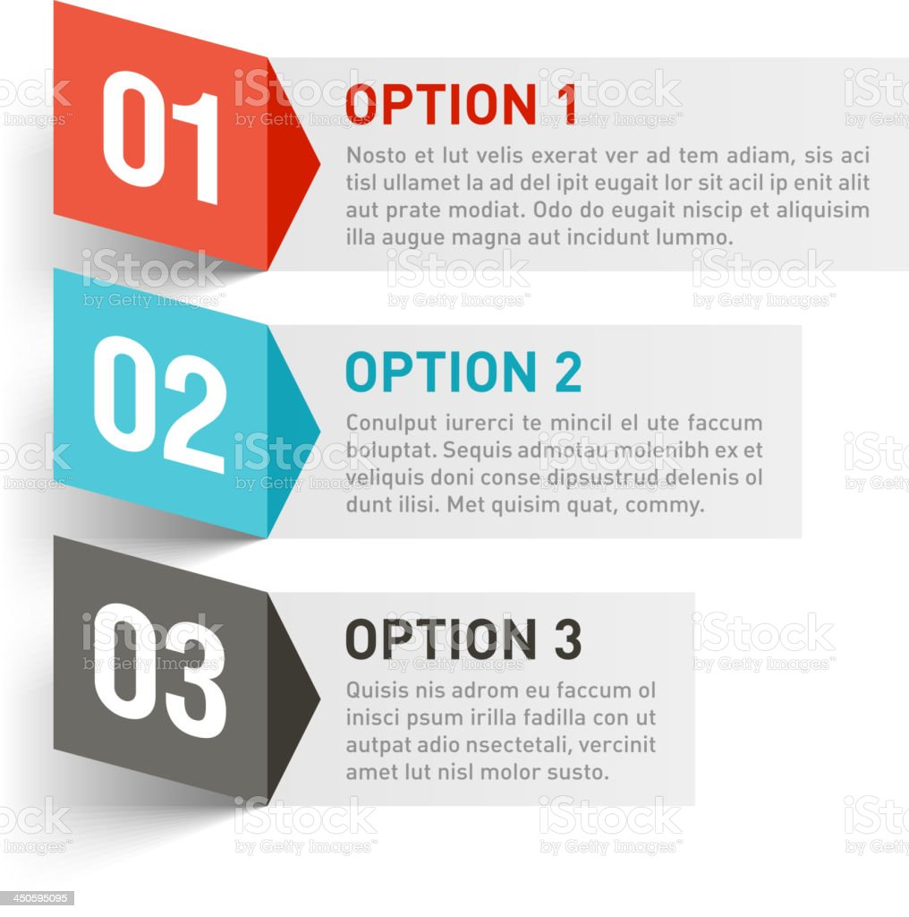 Three different options for a design element royalty-free three different options for a design element stock vector art & more images of arrow - bow and arrow