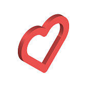 Three dimensional heart shape