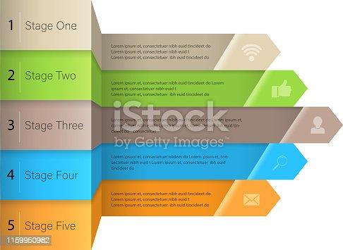 three dimensional infographics design