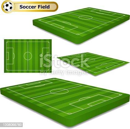 istock Three Dimensional Soccer Field 1208066760