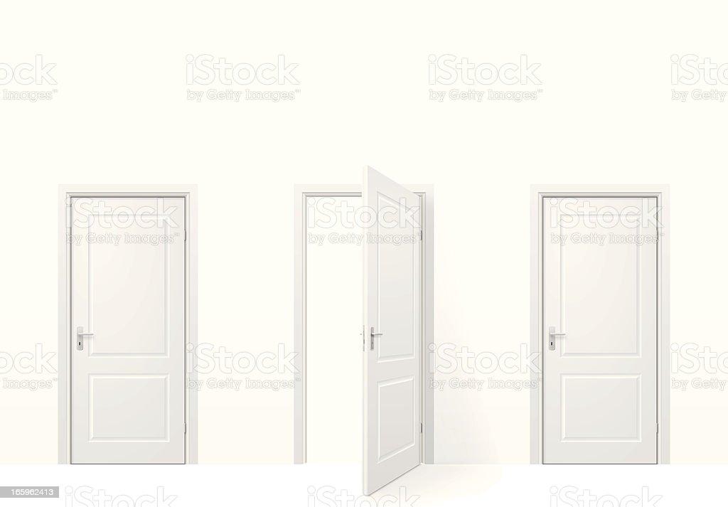 Three doors royalty-free stock vector art