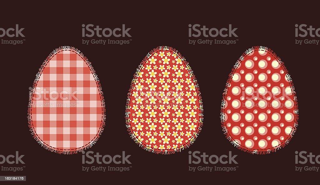 Three Easter eggs 1 royalty-free stock vector art