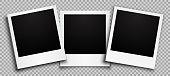 istock Three empty black photo frame with shadows - stock vector 1185254259