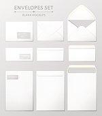 Three envelopes set