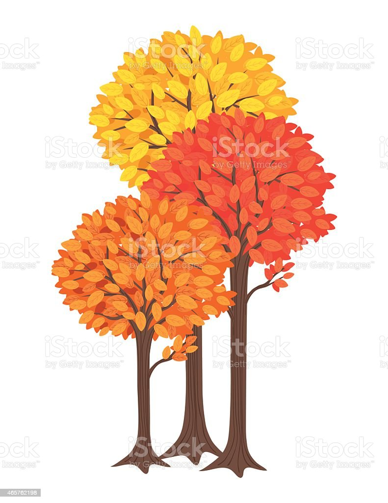 royalty free autumn tree clip art vector images illustrations rh istockphoto com cute fall tree clipart fall tree clipart free