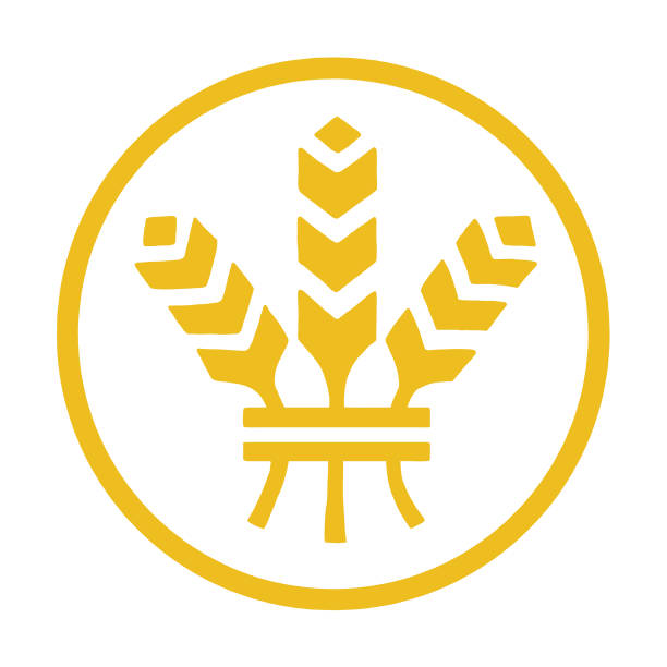 üç tüy - buğday stock illustrations