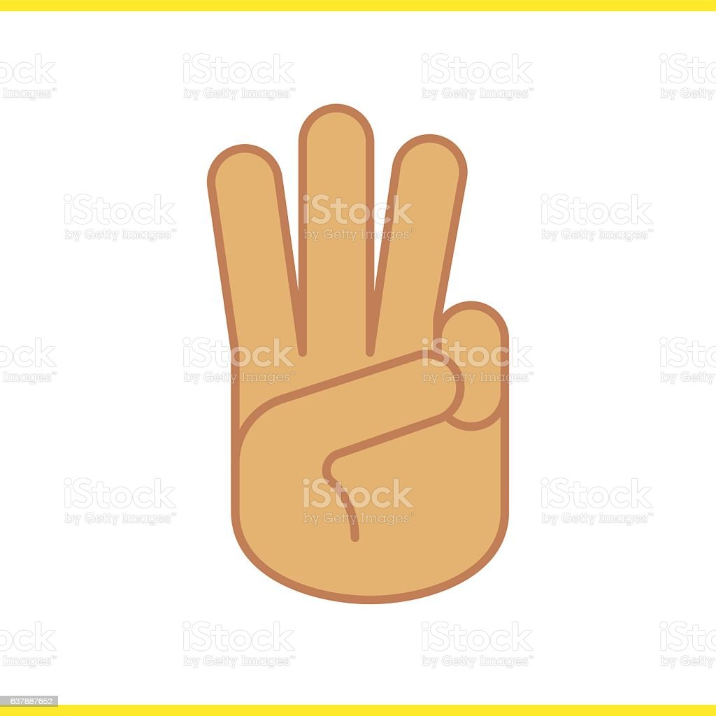Three Finger Salute Icon Stock Vector Art More Images Of Agreement