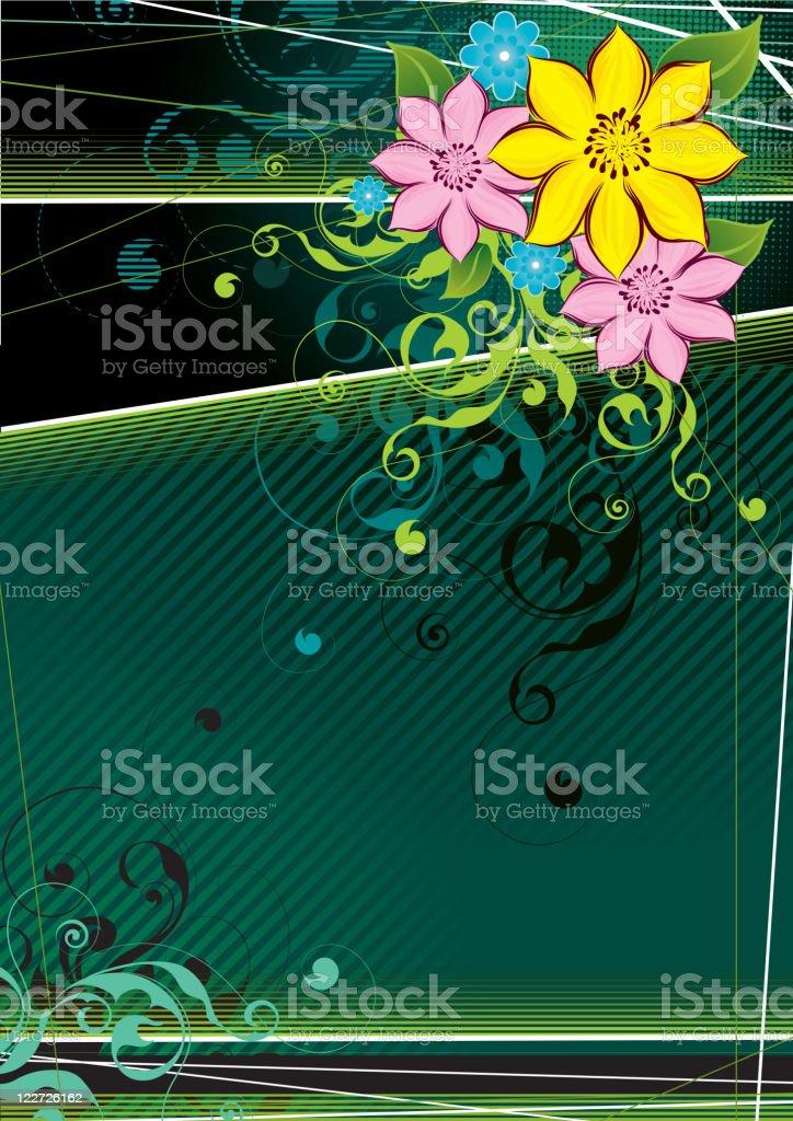Three flowers royalty-free stock vector art