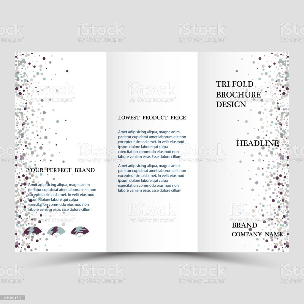 three fold business brochure template corporate flyer or cover