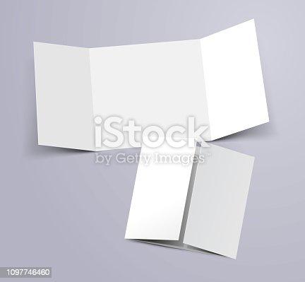 three fold brochure flyer template design