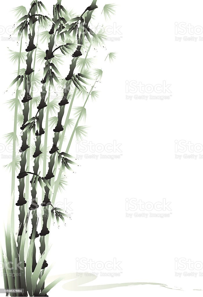 Three Friends of the Cold - Bamboo royalty-free stock vector art