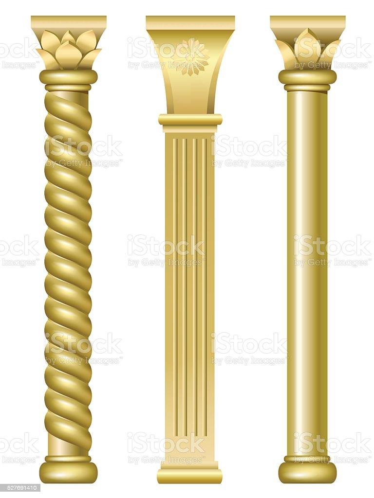 Tres oro Torre del este - ilustración de arte vectorial