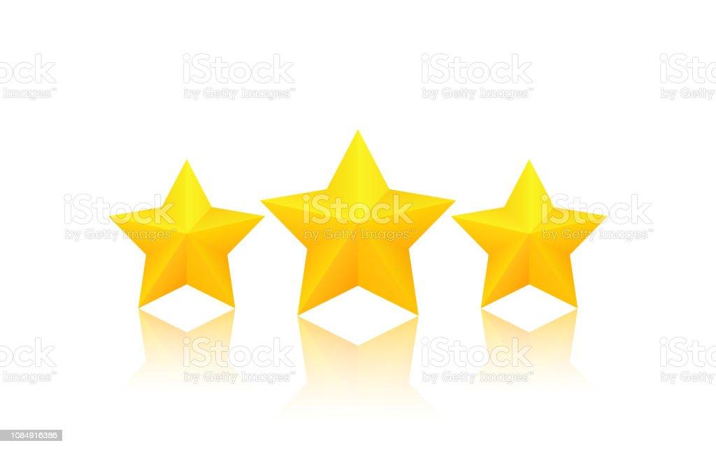 Trois étoiles Dor Vecteurs Libres De Droits Et Plus Dimages