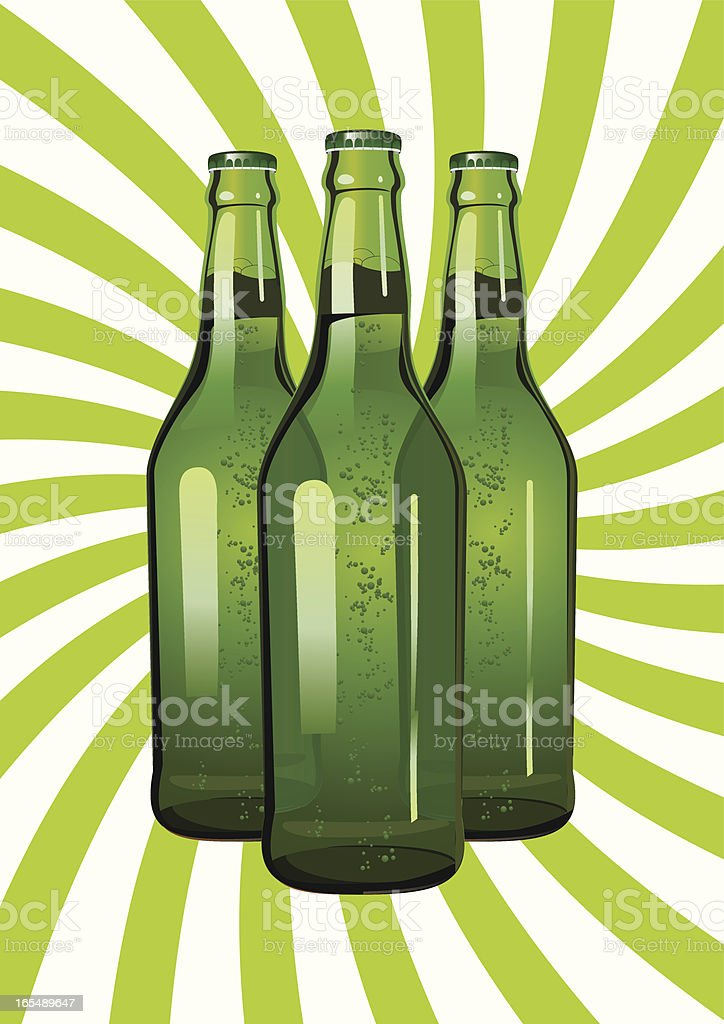 three green glass bottles royalty-free three green glass bottles stock vector art & more images of alcohol