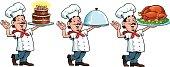 Three Images of Chef - Cartoon