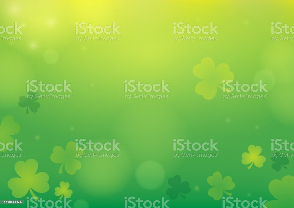 Three leaf clover abstract background 1 vector art illustration