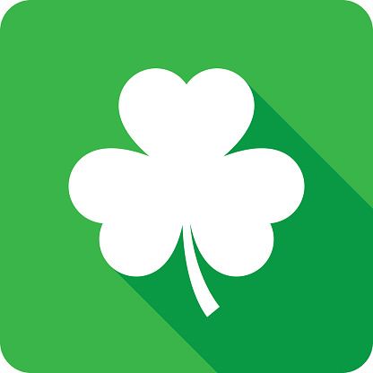 Three Leaf Clover Icon Silhouette