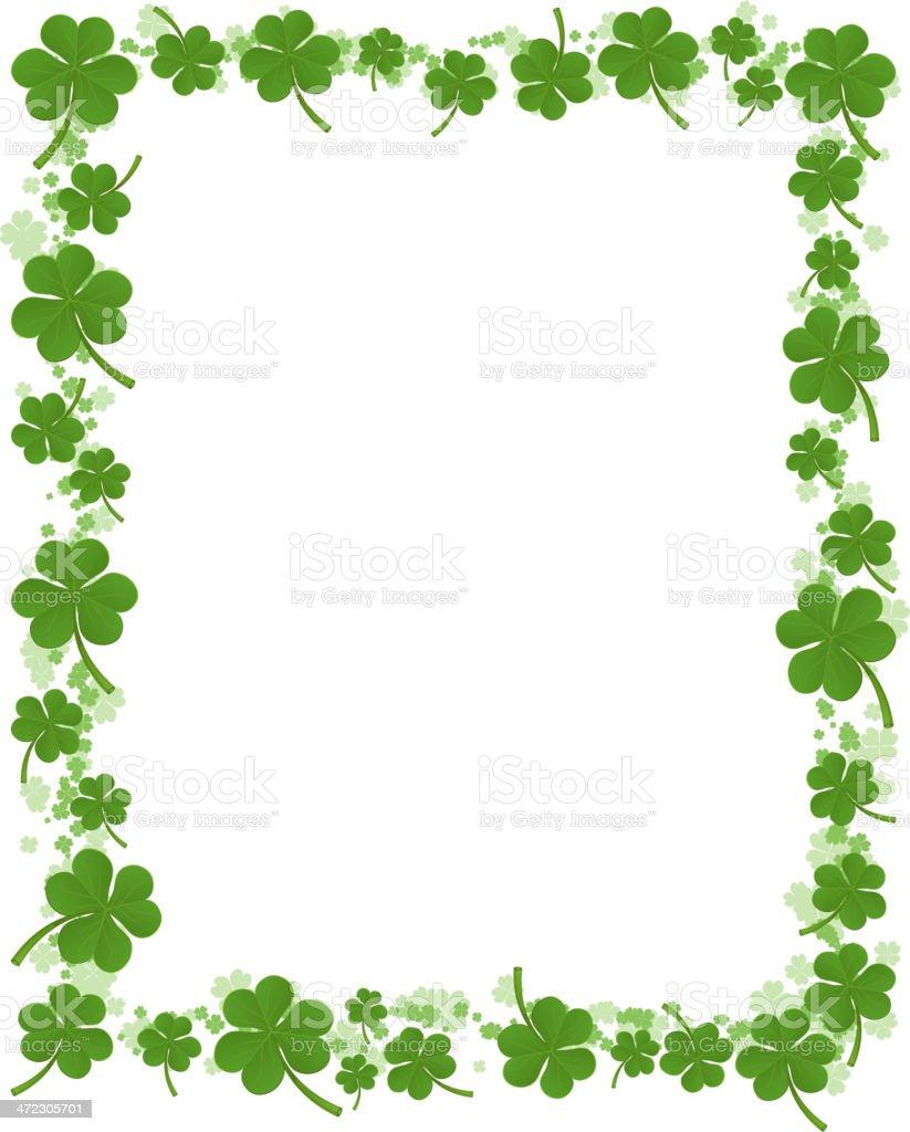 three leafs clover frame pattern stock vector art 472305701 istock