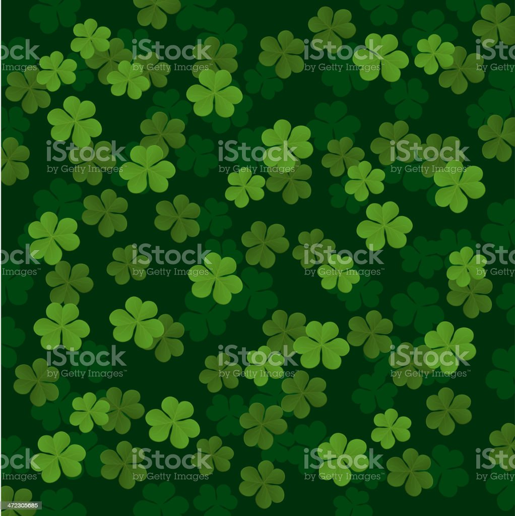 Three leafs clover Pattern royalty-free stock vector art