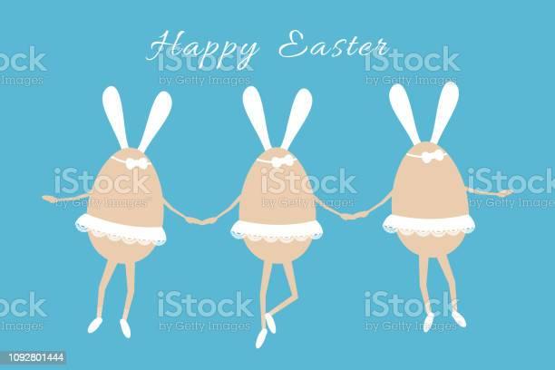 Three light brown easter eggs illustrated as dancing ballerinas in a vector id1092801444?b=1&k=6&m=1092801444&s=612x612&h=djnai dnvjg2wprj furc86xfvrkauf kaa06dbajxq=