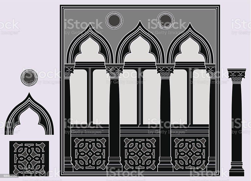 Drei helle Fenster Lizenzfreies drei helle fenster stock vektor art und mehr bilder von alt